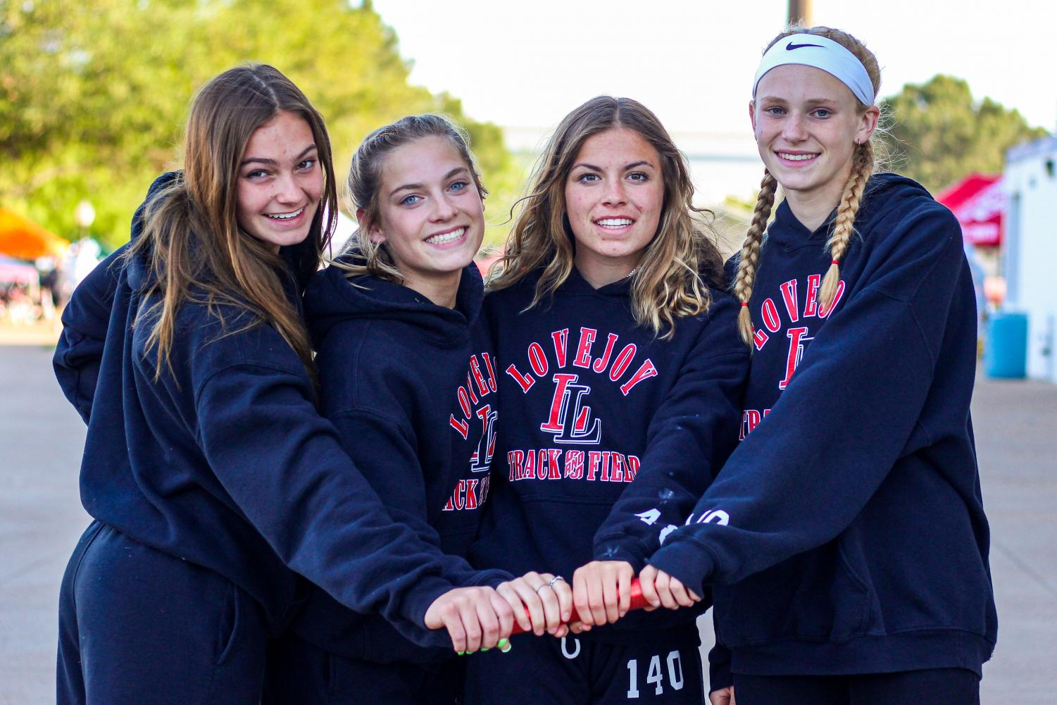 Sophomores Chloe Schaeffer, Bella Landrum and  Amy Morefield, as well as freshman Kelly Littlefield qualified for state in the 4x400 meter relay race. This is the first year this team is going to state.