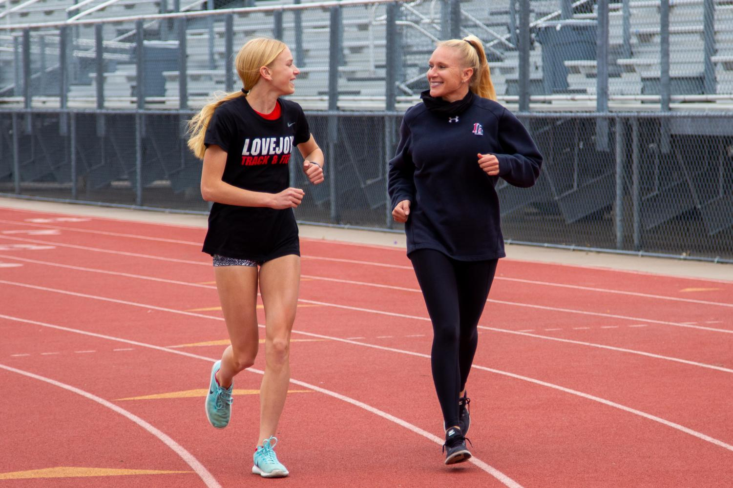 Girls track coach Carly Littlefield ran track in high school and college. Carly