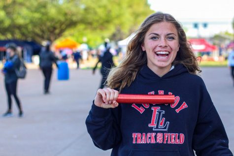 Sophomore Amy Morefield competed in the 4x400 meter relay, as well as the mile run for track UIL. Morefield is the third-leg runner for the relay team.