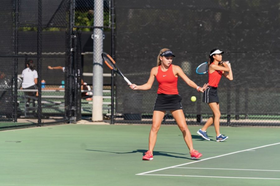 Freshman Madeline Smith competed at UIL regionals this week. She is on the doubles team.