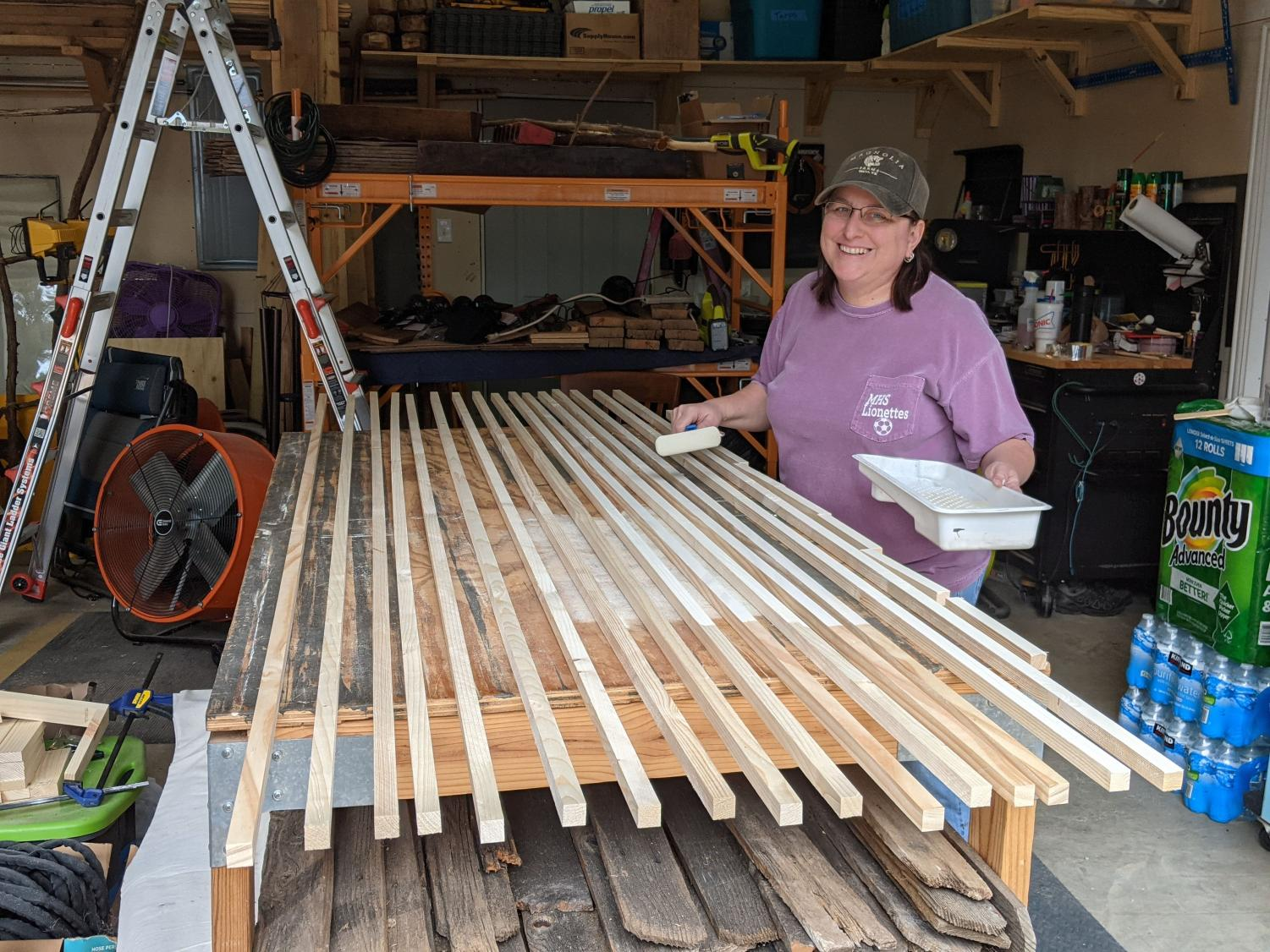 Geometry teacher Crystal Smith started her own woodworking business in 2011. Smith continues woodworking as a passion project for herself, and close family and friends today.
