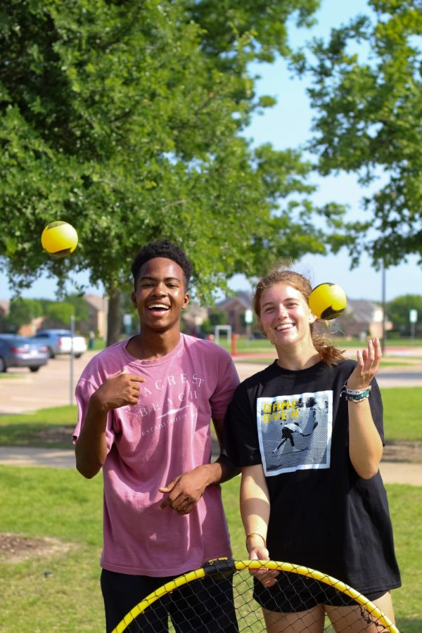 Senior Julia Brochu and her partner Andrew Christmas. Julia and Andrew attend tournaments weekly.