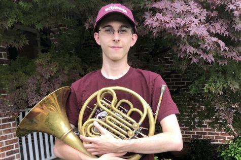 Senior Sam Lamping played the tuba in the band. Lamping will be attending the University of Chicago.