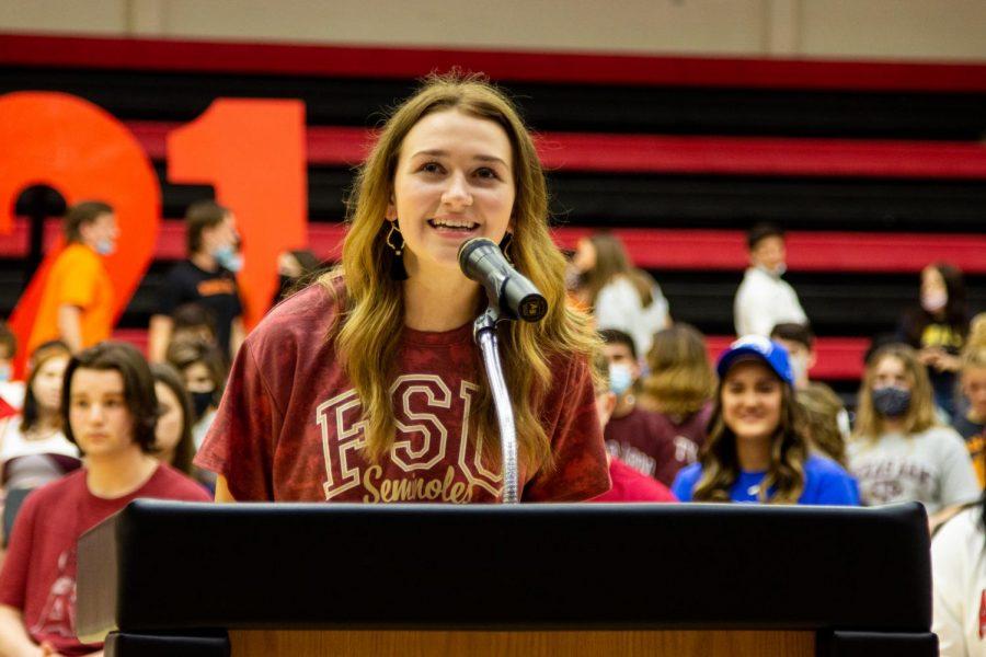 Senior Grace Felton is attending Florida State University. Felton plans to major in film and media arts production.