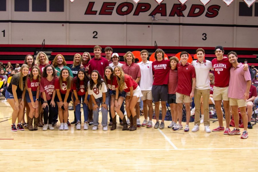 24 seniors will be attending the University of Oklahoma in the fall. This group was the second largest of students attending the same school.