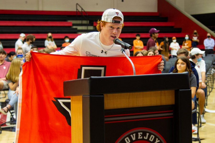 Senior Chief Collins is attending Texas Tech to play football. Collins will major in construction management.