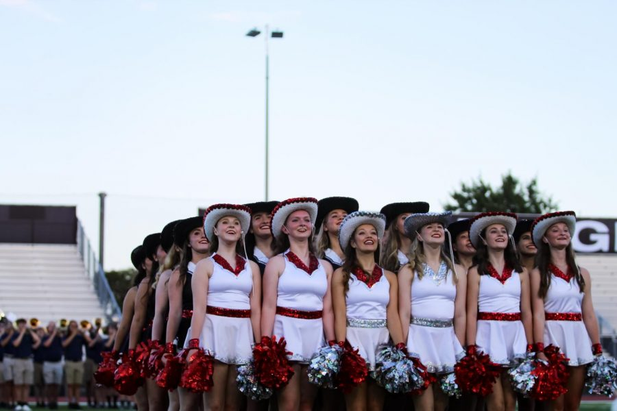 The Majestics get ready to perform. The Majestics will be performing their new routine on Friday at the game.