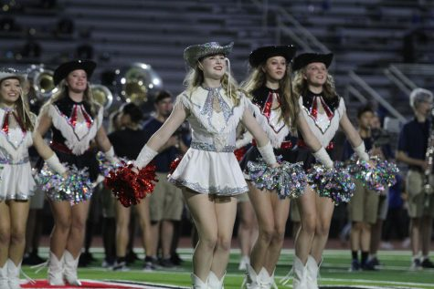Senior Majestic captain Makenzie Aubel performs during halftime. Aubel has been on the Majestics for three years now.