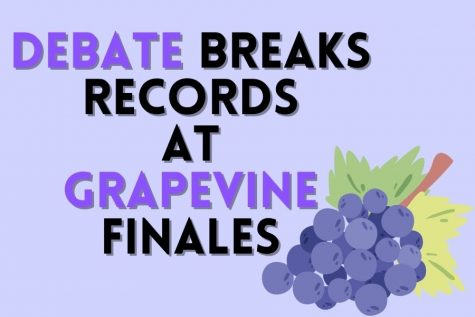 The debate team achieved high marks at the grapevine finales last Friday. The policy team broke school records by breaking into the double octave final round.