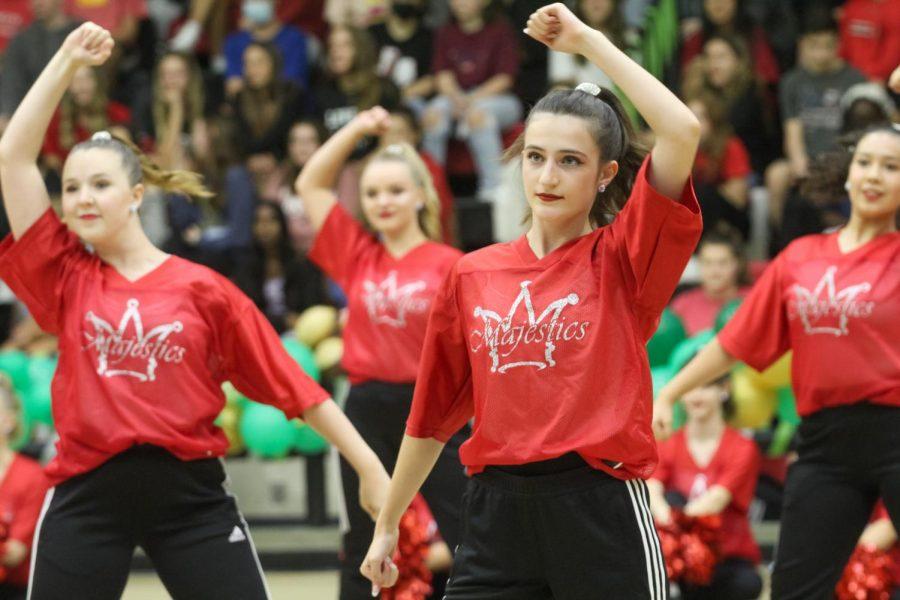 Senior Majestic Kylie Gannon performs a hip-hop routine. Gannon is a senior lieutenant for the Majestics.