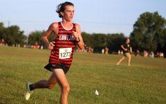 Freshman Will Carlson runs in the Lovejoy Fall Festival. Carlson ran a 17:07 5k in this race.