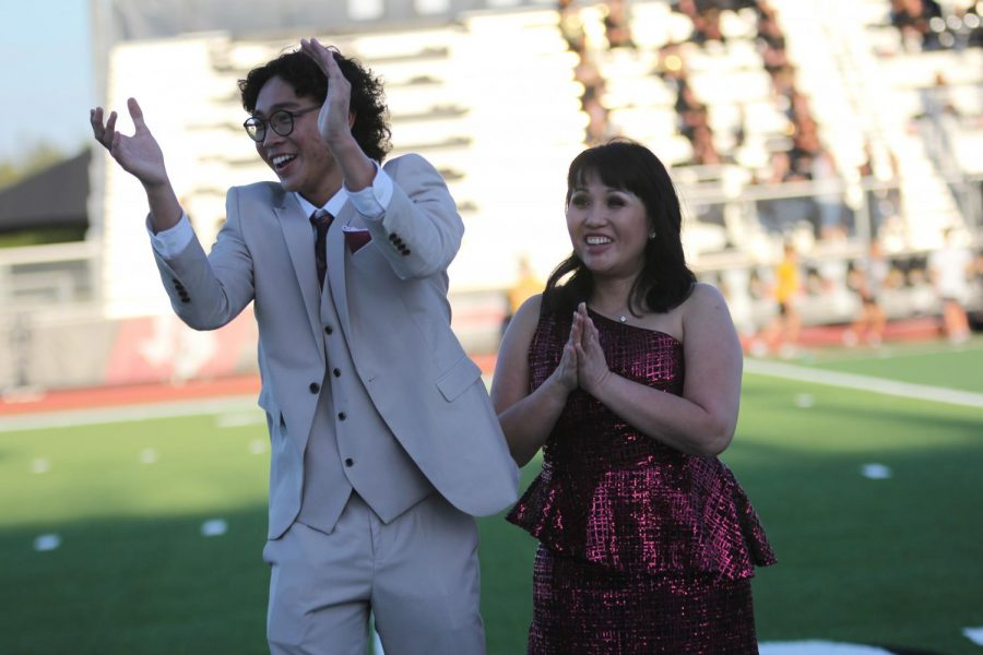 Senior Derek Dang is announced as Homecoming king. Dang also won Mr. Spirited at the pep rally.