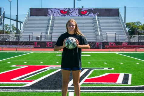 Junior Maggie Manders is on the varsity soccer team. Manders is also an athletic trainer.