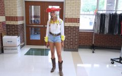 Senior Sophie Carnes dresses up as Jessie from