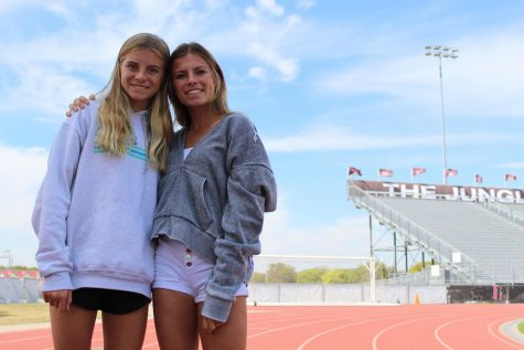 Sophomore Sara Morefield and junior Amy Morefield compete together in both cross country and track. Sara also plays soccer once cross country is over.
