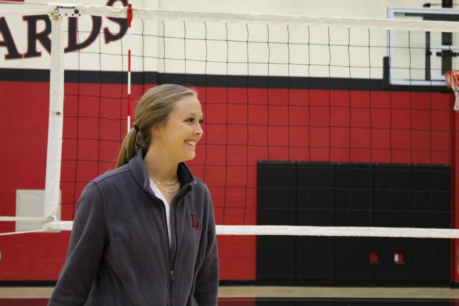 Coach Natalie Puckett is the new head volleyball coach. Puckett was the assistant coach last year and replaced coach Ryan Mitchell.