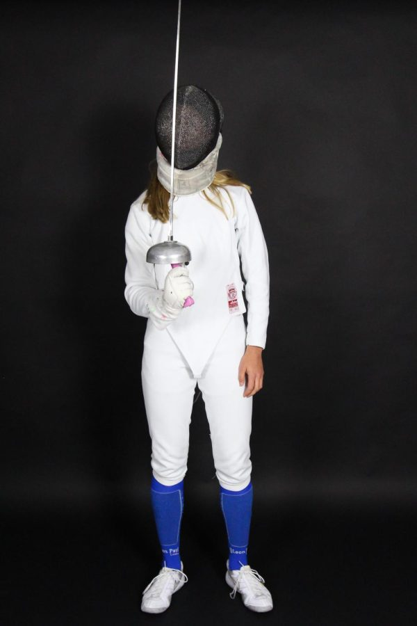 Freshman Emersyn Runions trains with the International Fencers Club of Dallas. Runions practices three to four times a week.