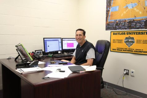 Athletic director, head boys basketball coach, and PALS adviser Kyle Herrema has been in the district for 15 years. Herrema has taught nine different subjects over his time at the high school.