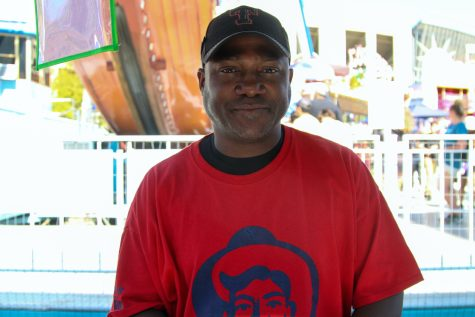 Troy Adams has been working as a seller of treats at the fair this year. Adams used to have his own door business called Craft Doors USA.